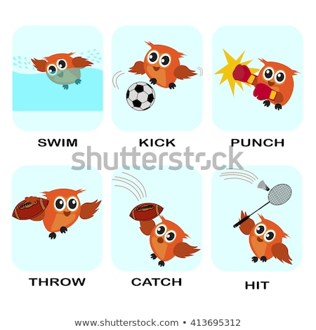 Spell English word badminton Stock photo © bluering