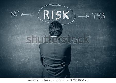 Kockázat igen nem folyamatábra kéz rajz Stock fotó © ivelin
