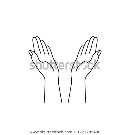Müslüman kadın el sipariş göstermek bir şey Stok fotoğraf © robuart
