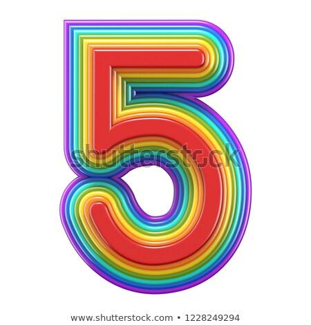 числа · 3D · оказанный · иллюстрация · изолированный · белый - Сток-фото © djmilic