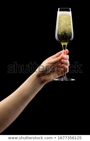 Nő pirítós tart borospohár közelkép barátok Stock fotó © Kzenon