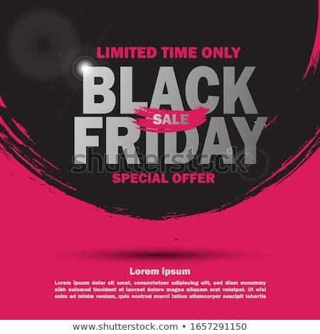 black friday sale geometric background Stock photo © SArts