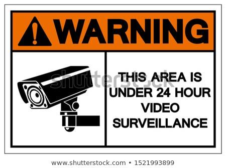cctv notice Set video surveillance, vector illustration Stock photo © Ecelop