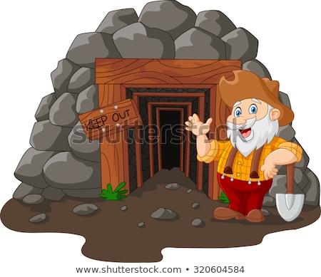 Cartoon Miner Waving Stock photo © cthoman
