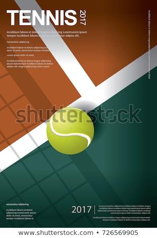 Tennis poster vettore illustrato modello folla Foto d'archivio © abdulsatarid