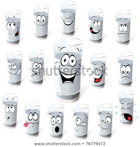 Ijedt rajz joghurt csésze illusztráció néz Stock fotó © cthoman