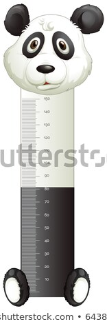 Panda paper with measuring height scales Stock photo © colematt