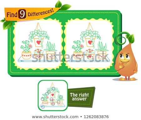 houseplants game 9 differences Stock photo © Olena