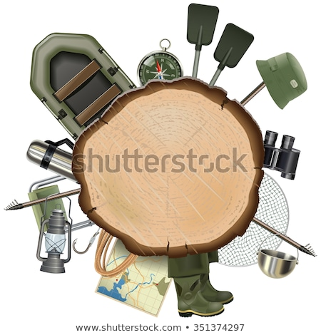 Scouts on the wooden board Stock photo © colematt