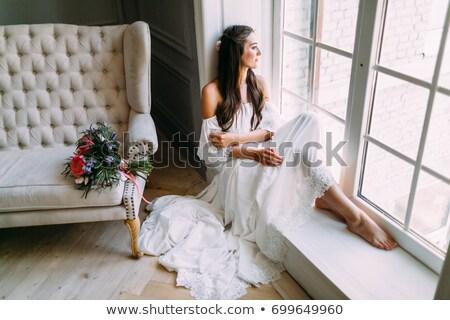 bruid · bruidegom · kamer · kaars · dienst · witte - stockfoto © ruslanshramko