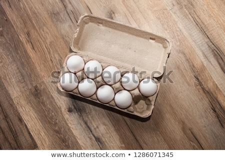 Nueve huevo cartón ilustración fondo arte Foto stock © colematt