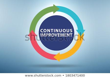 улучшение · процесс · бизнеса · диаграмма · иллюстрация · Бизнес-стратегия - Сток-фото © olivier_le_moal
