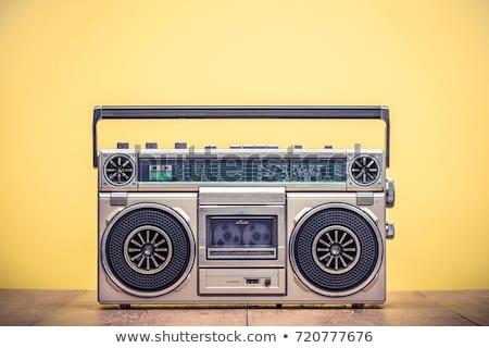 vintage portable radio cassette player retro stock photo © patrimonio