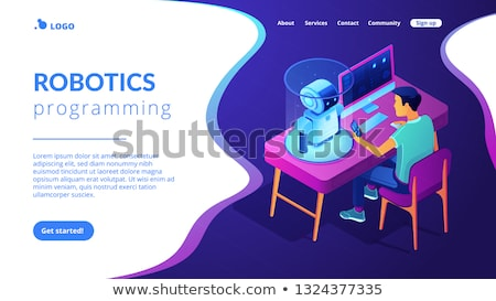 Robotic process automation app interface template. Stock photo © RAStudio