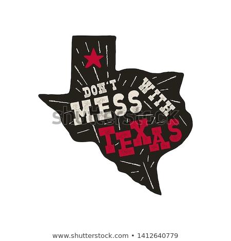 Texas · distintivo · bagunça · citar · vintage - foto stock © jeksongraphics