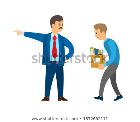 Boss Director Worker Dismissing Person from Duty Stock photo © robuart