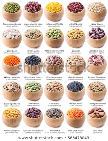 Collection set of beans and legumes. Bowls of various lentils Stock photo © Illia