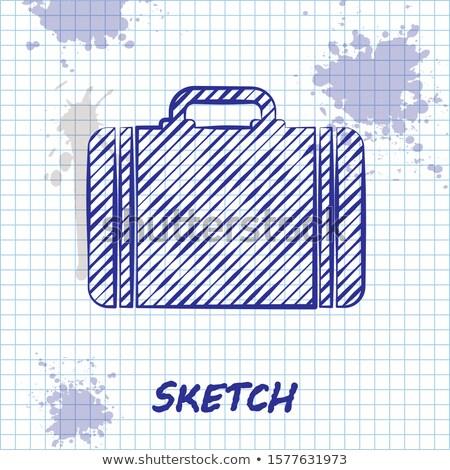 Briefcase sketch icon Stock photo © netkov1