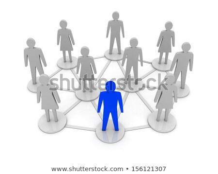 social · hierarquia · equipe · humanismo · comunidade · líder - foto stock © olivier_le_moal