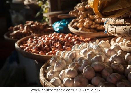 garlic close up in a basket stock photo © dariazu