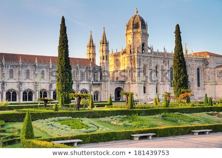 Sunset at Jeronimos Monastery in Belem, Lisbon, Portugal Stock photo © matimix
