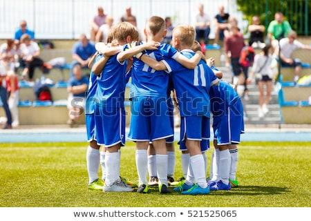 Jóvenes ninos equipo deportivo estadio fútbol jugadores Foto stock © matimix
