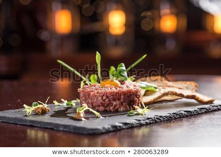ステーキ 前菜 ディナー 肉 ダイニング 新鮮な ストックフォト © boggy