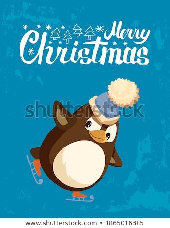 пингвин · белый · прибыль · на · акцию · 10 · птица · животные - Сток-фото © robuart