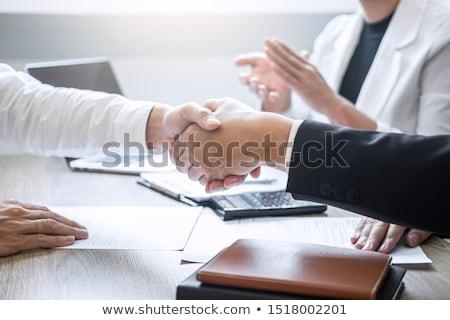 Business carriere plaatsing baas werknemer geslaagd Stockfoto © snowing