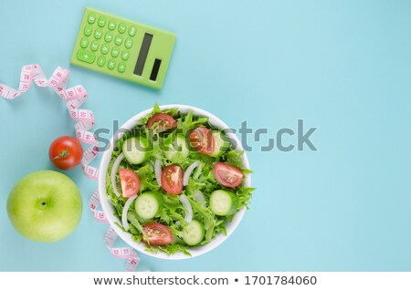 background diet plan with fresh vegetables and fruits on the tab Stock photo © mizar_21984