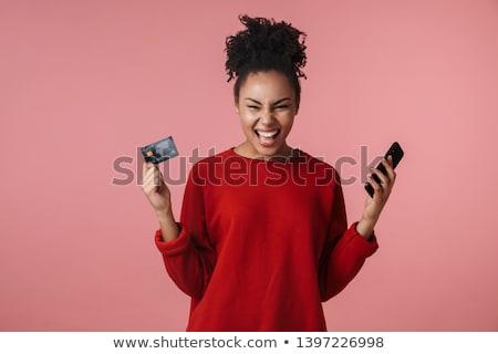 Сток-фото: красивой · молодые · африканских · женщину · изолированный · розовый