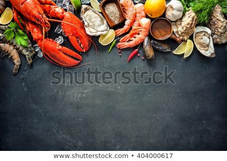 tengeri · hal · polip · osztriga · homár · főzés · felső - stock fotó © karandaev