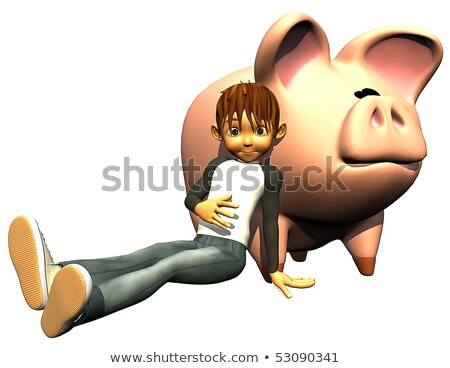 Photo stock: Kid · garçon · monnaie · échange · illustration