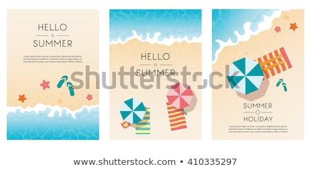 guarda-sol · topo · ver · ícone · vetor · projeto - foto stock © sonya_illustrations