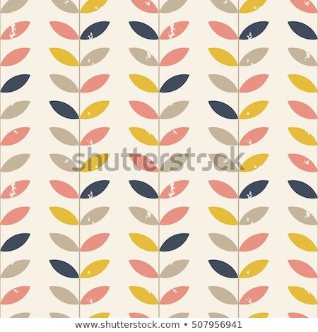 Vektor végtelen minta színes levelek citromsárga rózsaszín Stock fotó © Pravokrugulnik