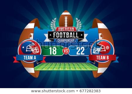 Amerikaanse voetbal scorebord icon kleur ontwerp Stockfoto © angelp