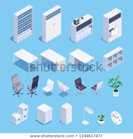 Books on wall bookshelf isometric 3d icon illustration Stock photo © orensila