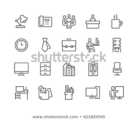 Recepcji wektora line ikona odizolowany biały Zdjęcia stock © smoki