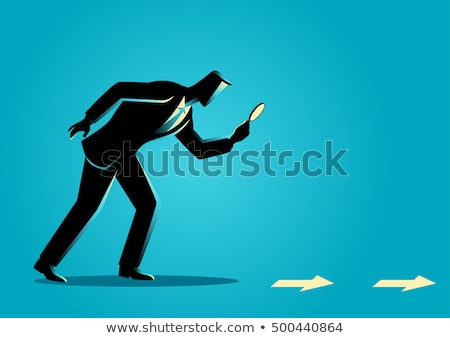Detective Investigating, Searching Clues Cartoon Vector Character Stock photo © pikepicture