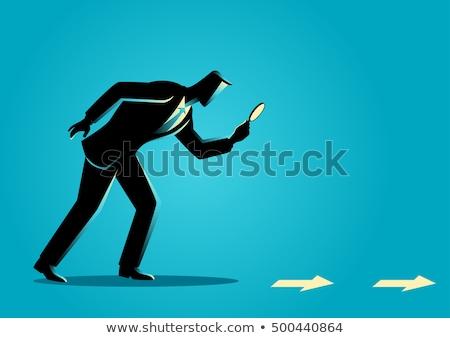 delict · vector · detective · cartoon · illustratie · karakter - stockfoto © pikepicture