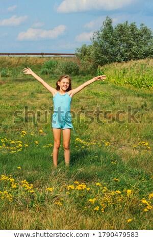 lachend · kinderen · ontspannen · zomer · dag · kinderen - stockfoto © dashapetrenko
