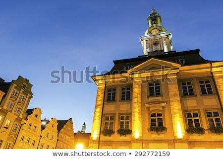 Reggel alsó ház kék utazás éjszaka Stock fotó © benkrut