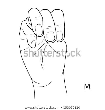hand demonstrating m in the alphabet of signs stock photo © vladacanon