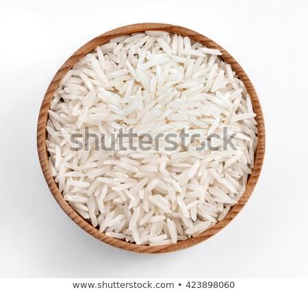 Bianco ciotola greggio basmati riso Foto d'archivio © DenisMArt