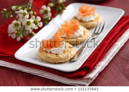 Avena crusca cookies crema formaggio Foto d'archivio © Melnyk