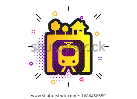 treinstation · symbolen · vector · iconen · web · gebruiker - stockfoto © netkov1