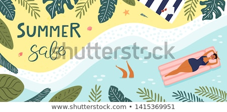 zomer · vakantie · vector · ingesteld · Open - stockfoto © robuart