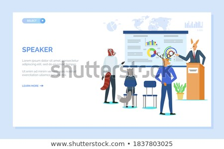 whiteboard with info and hipster animal sloth stock photo © robuart