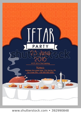ramadan iftar food party invitation template Stock photo © SArts