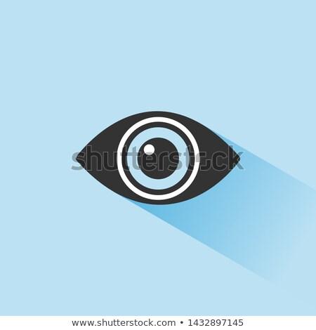 Corpo visão olho ícone sombra azul Foto stock © Imaagio